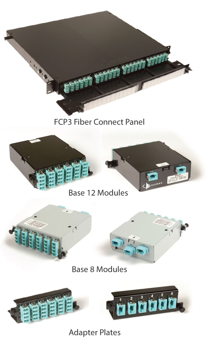 Base 8/12 HD FCP3 High Density Fiber Connect Panel System