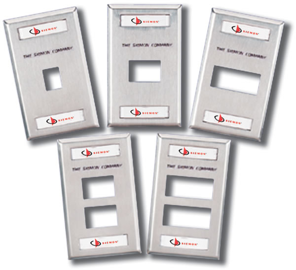 Labels Siemon MX-FP-S-01-SS-L 2 Port Faceplate Stainless Steel w